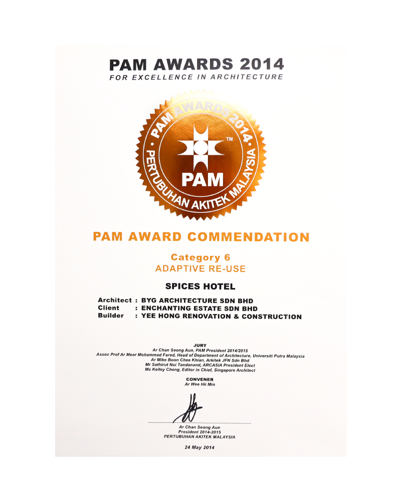 PAM Award Commendation 2014